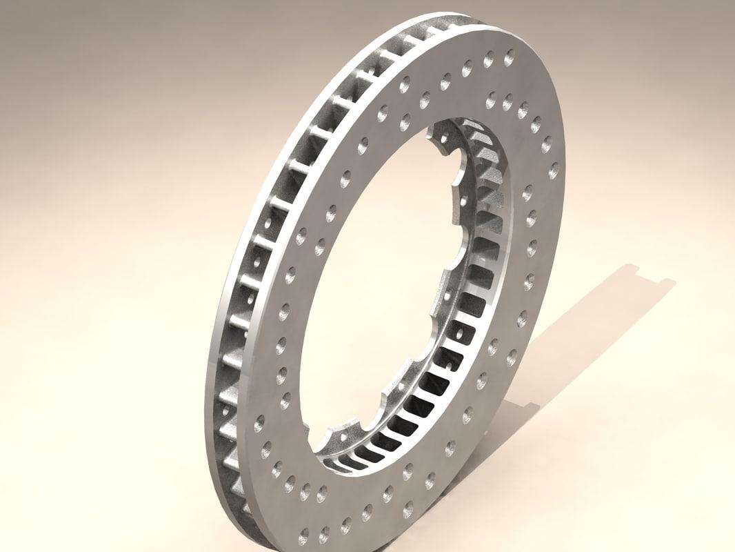 drilled disc 3d model