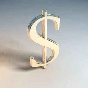dollar logo 3d 3ds
