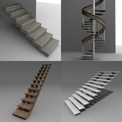 3ds stairs set
