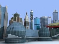 3d model 11 buildings