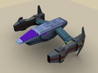 spaceship spacecraft transport 3d 3ds