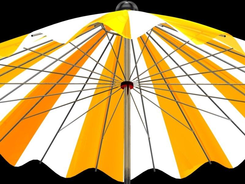 umbrella parasol 3d c4d