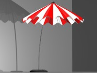 3d model umbrella parasol