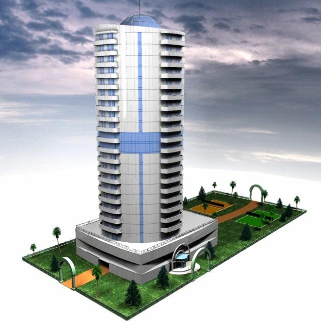 3d model architecture skyscraper office building