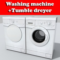 3ds max wash machine dryer