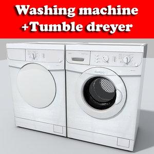 3ds max wash machine dryer