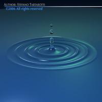 drop waterdrop water 3d model