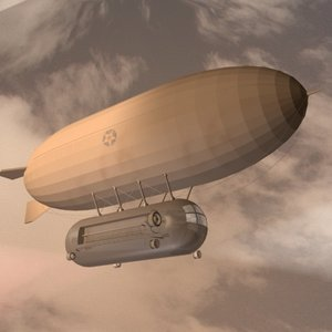 3d dirigible zeppelin blimp