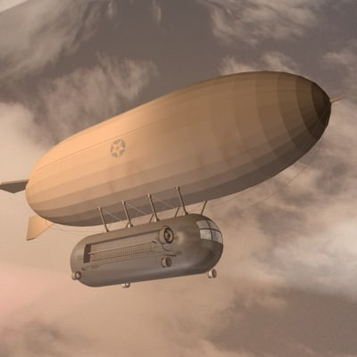 3d dirigible zeppelin blimp