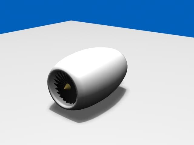 3d turbofan engine model