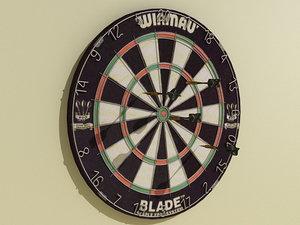 3d dartboard winmau blade