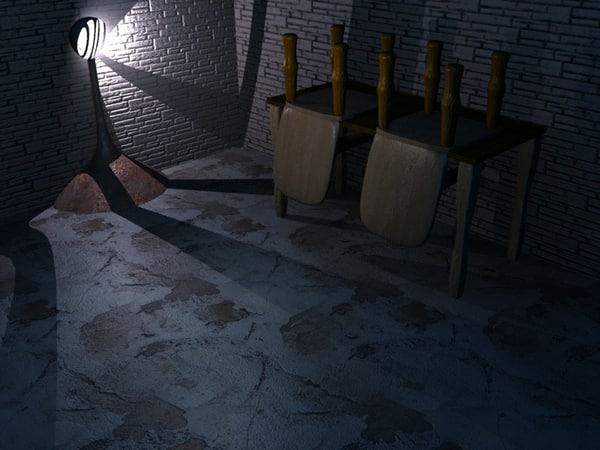 free dark lab 3d model