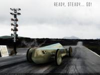 3d model drag racer blue flame