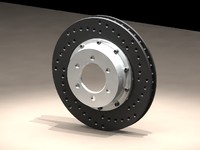 drilled disc assembled 3d model
