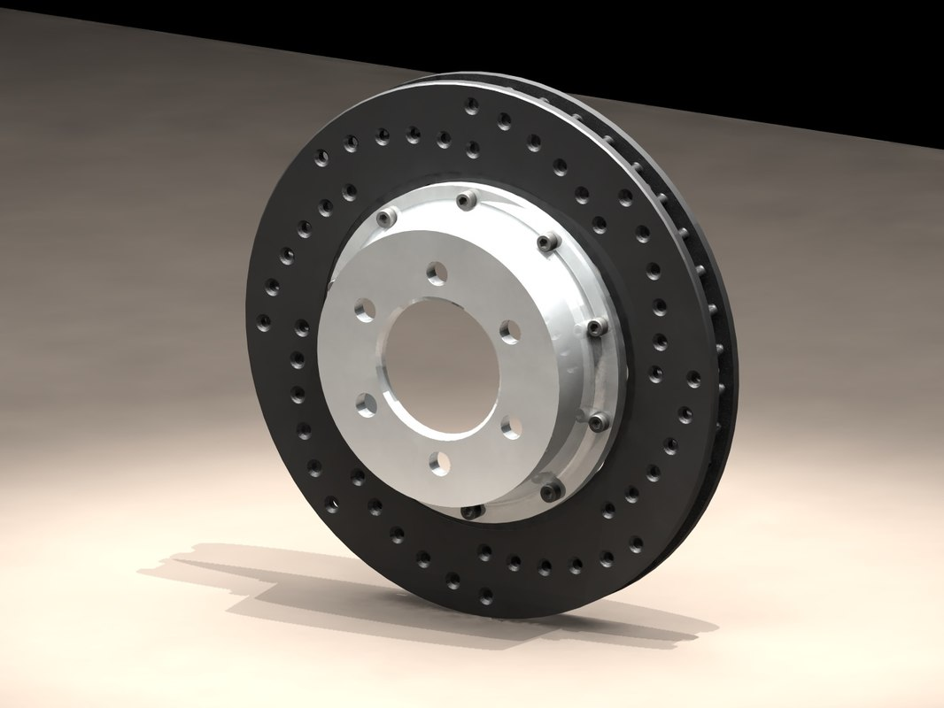 drilled disc assembled 3d model