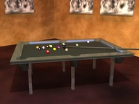 Modern-style Pool Table