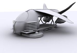 free sci fi dropship 3d model