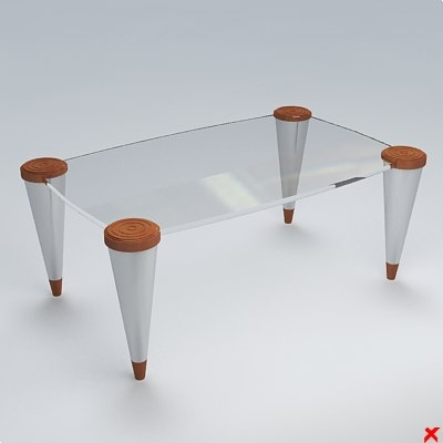 table glass 3d max