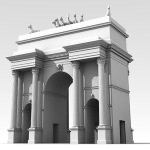 3d model arch triumph