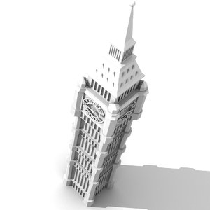 london clock tower 3d model