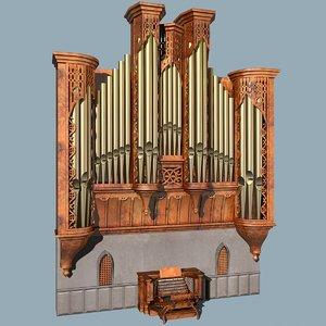 3dsmax church organ