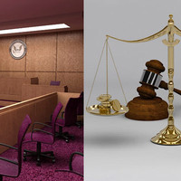 Courtroom & Balance Scale