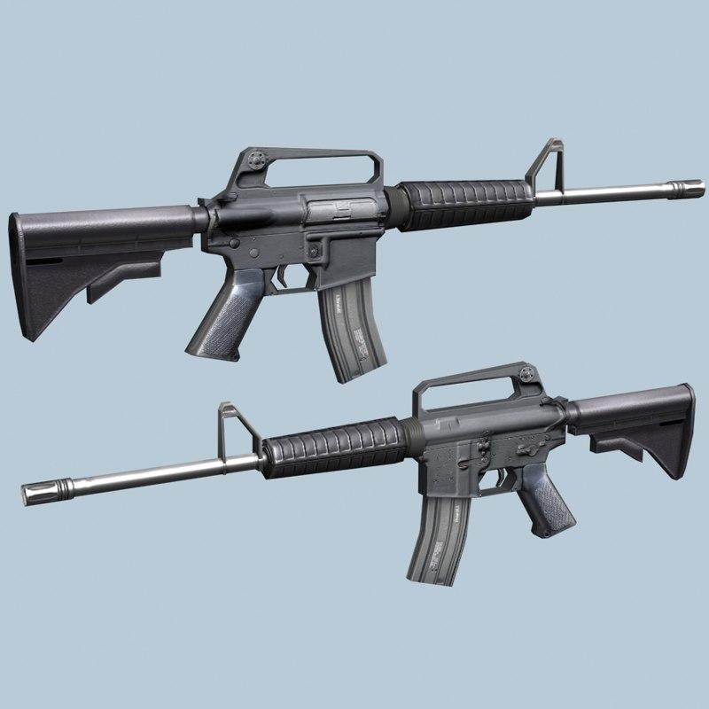 3d m4 carbiner model