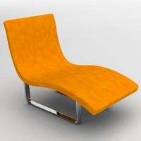 chair bed 3d obj