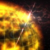sun solar flare 3d max