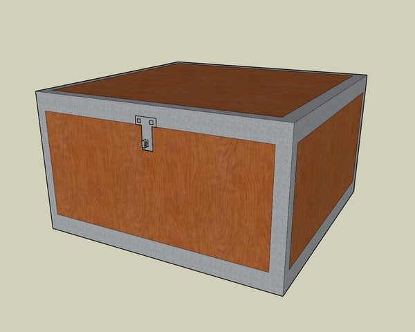 cool wooden chest 3ds