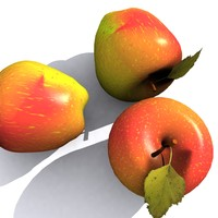 3d model of apple shader