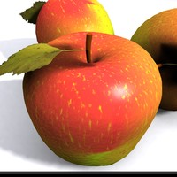 3d model of apple shader