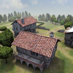 farm games architecture 3d model
