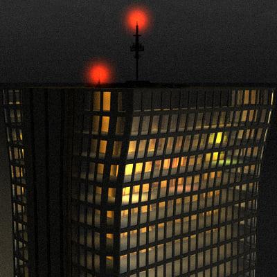 3d skyscraper window model