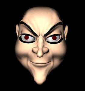 3d model devil face morph
