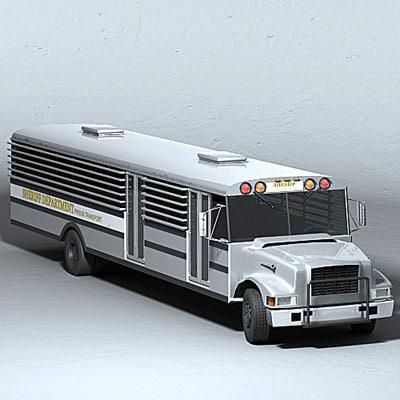 3d model prison bus