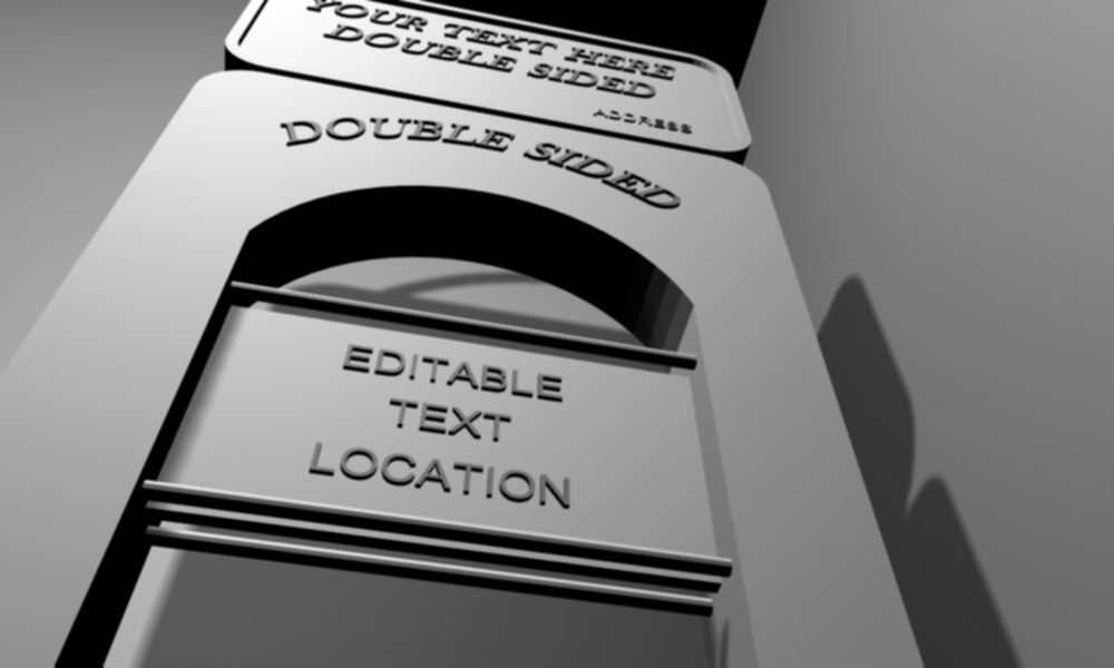 3d model sign marque text