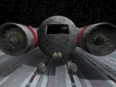3d futuristic space hopper model