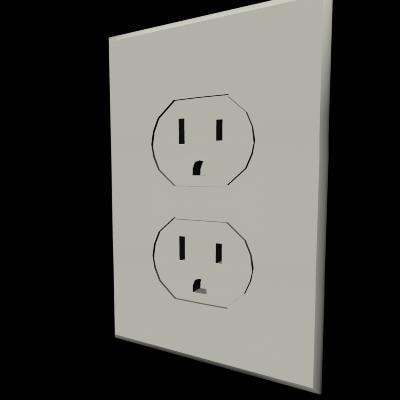 3d power outlet model