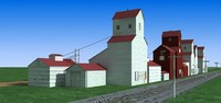 Old grain Barn Elevator 3D Models