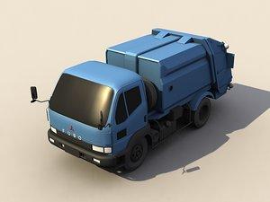 dust cart dumpcart garbage truck 3d max