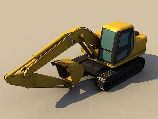 3d rooter navvy forklift model