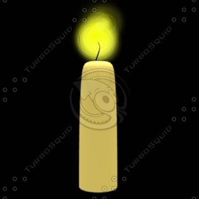 candle blender 3d blend