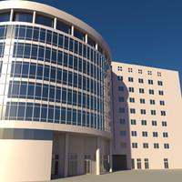 3ds max modern business center