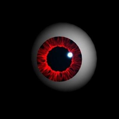 3d eye ball eyeball model