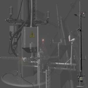 3d weather communications tower