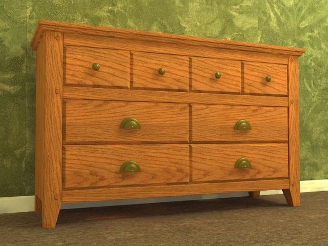 bedroom drawer 3d model
