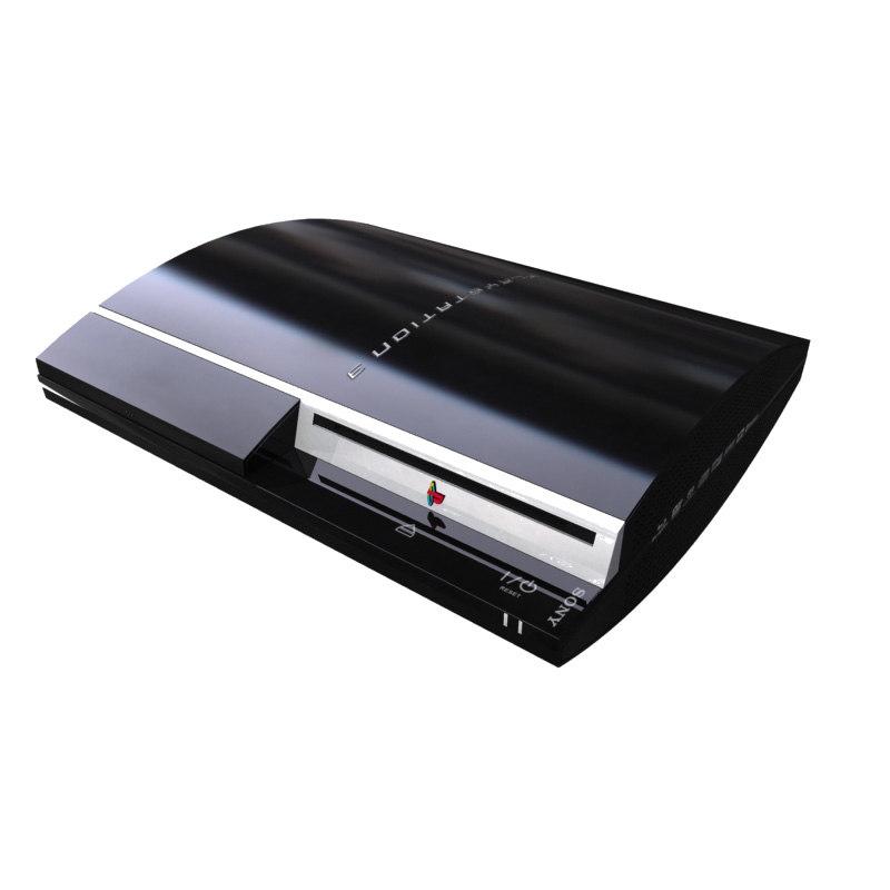 sony playstation 3 2007 3d max
