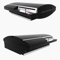 2007 sony playstation 3 3d model