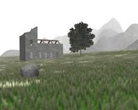 house ruin obj